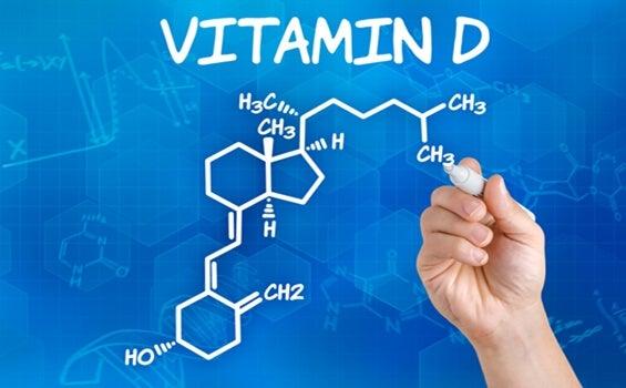 fórmula demostrando la relación entre el cerebro y la vitamina D