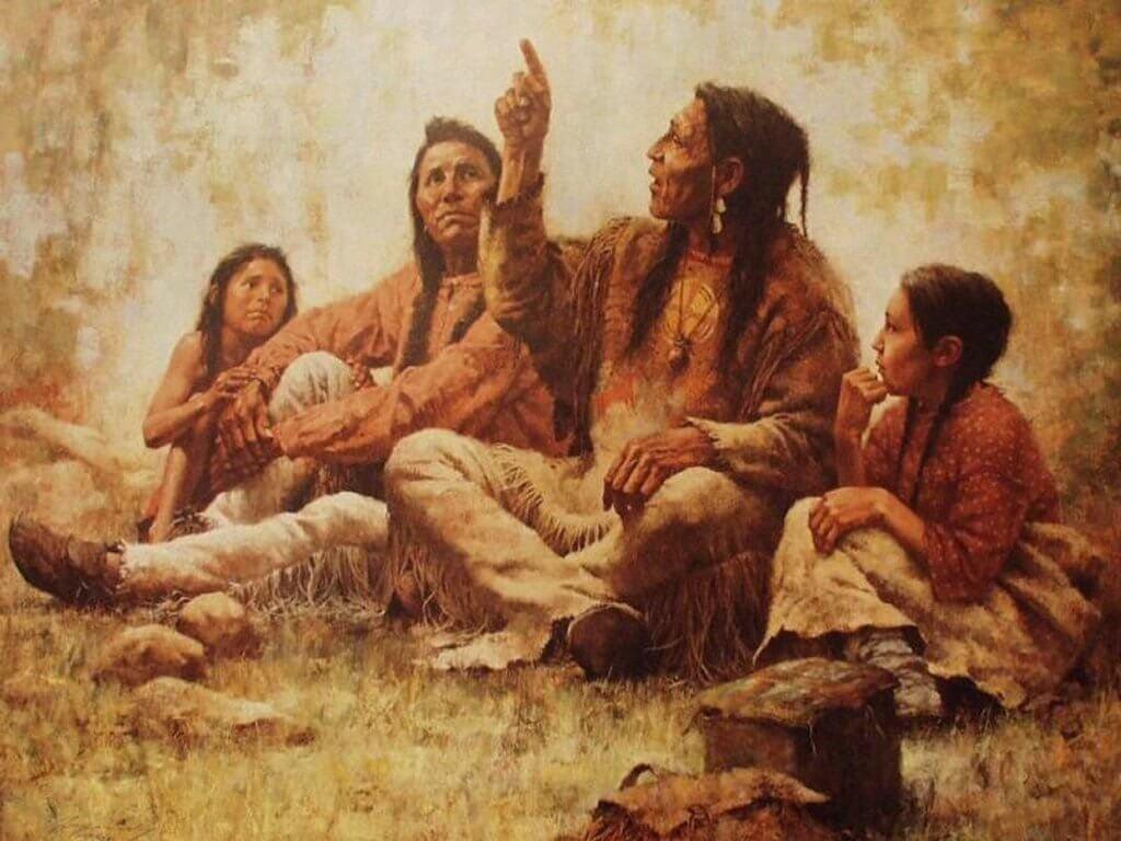 Indios nativos reunidos