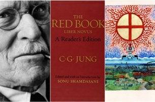 tres ilustraciones representando el el libro rojo de Jung