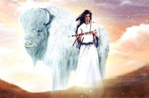 la mujer del búfalo blanco