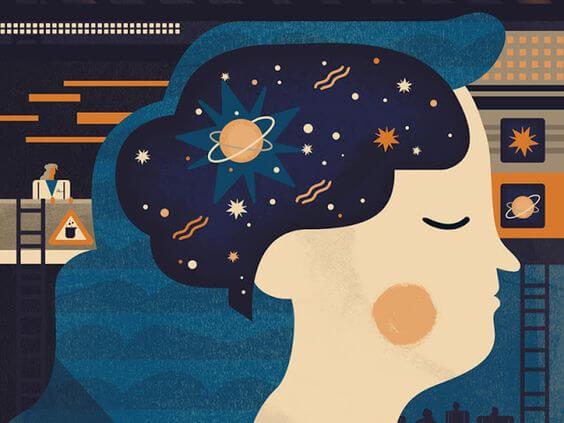 cabeza con universo representando las claves de la asertividad