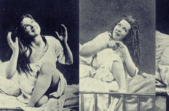 mujer con histeria simbolizando el caso Dora