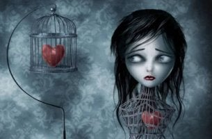 Niña con el corazón enjaulado