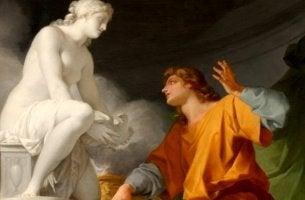 obra representando el efecto Galatea