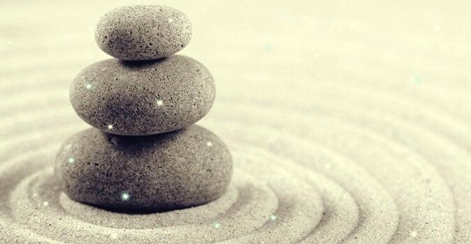 rocas representando el equilibrio frente a la presión