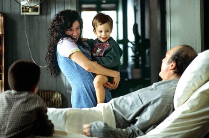 Ramon con una mujer y un niño