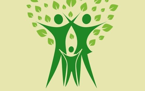 Familia con forma de árbol