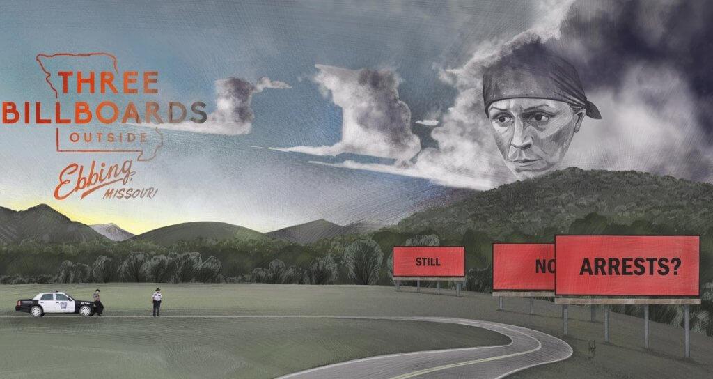 Cartel de Tres anuncios en las afueras