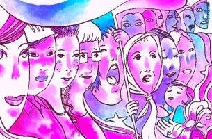 imagen representando el día de la mujer