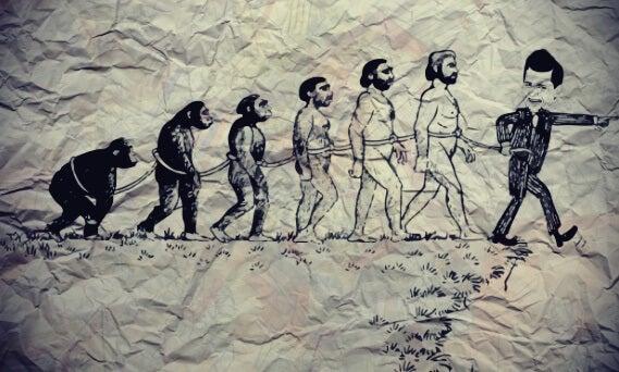 amo y la evolución de los esclavos representando la dialéctica del amo y el esclavo