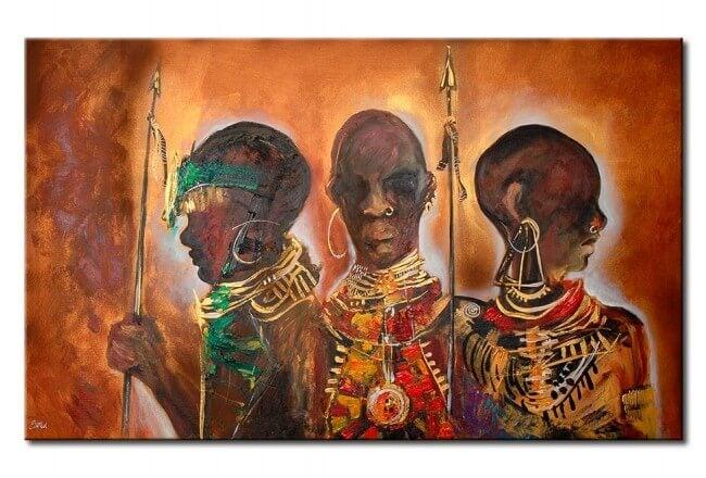 guerreros representando los proverbios africanos