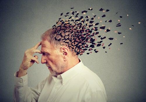 Hombre con mente por piezas
