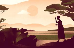 ilustración representando los proverbios africanos