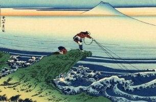Ilustración de un pescador