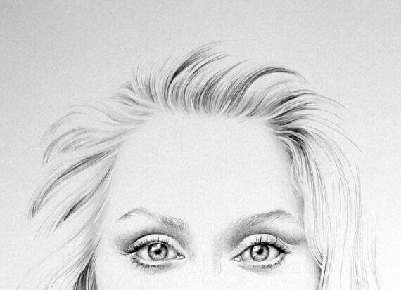 Ilustración de la mirada de Meryl Streep