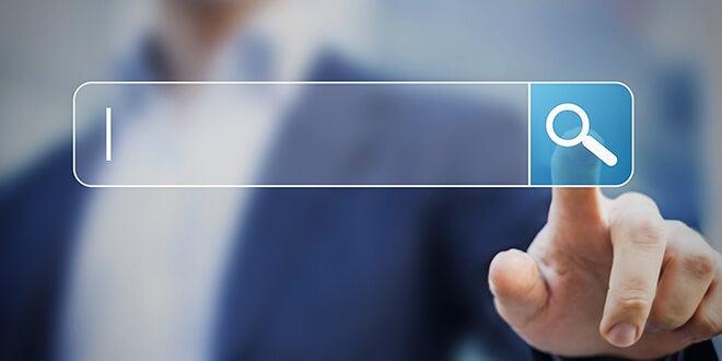 motor de búsqueda representando cómo Internet disminuye la capacidad crítica