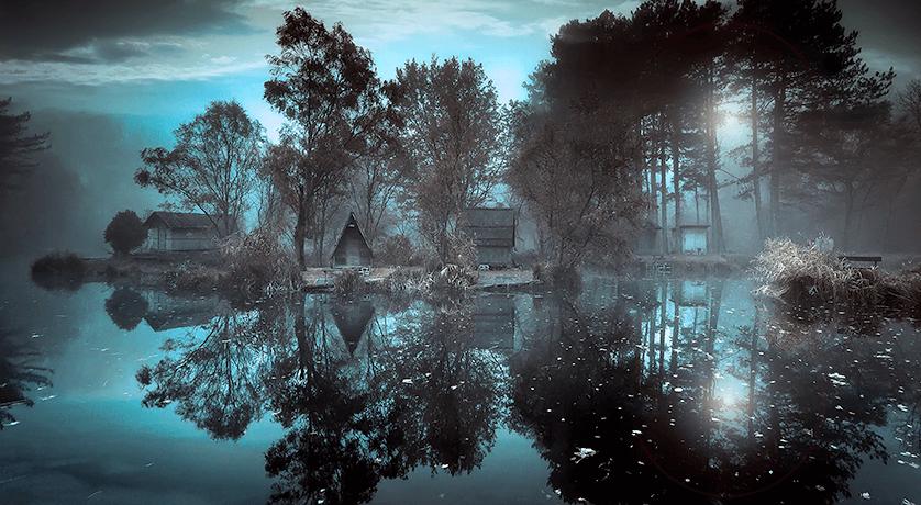 naturaleza envuelta en silencio
