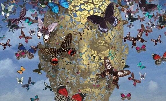 figura con mariposas simbolizando el cerebro empático