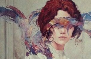 chica con pintura en el rostro simbolizando la reactancia psicológica