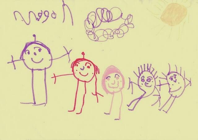lámina del test del dibujo de la familia