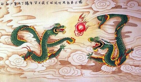 dragones representando las fábulas chinas