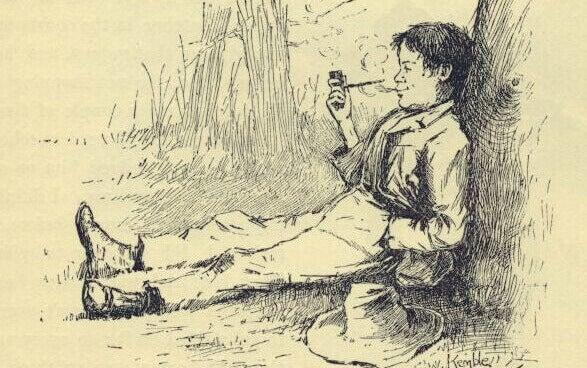 Ilustración de Huckleberry Finn