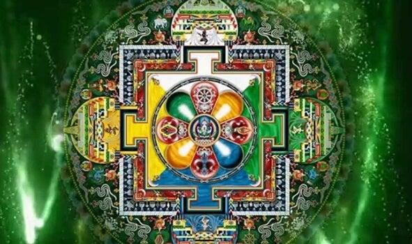 imagen simbolizando el mantra de la tara verde