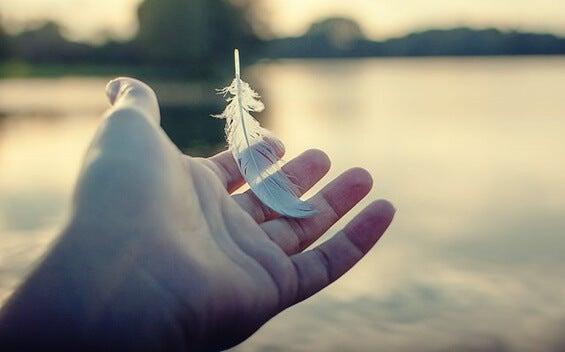 mano con pluma simbolizando el arte de saber renunciar