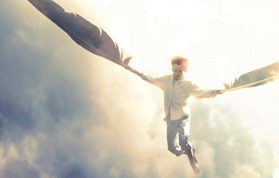 niño con alas simbolizando las heridas emocionales del pasado