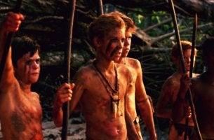 Niños salvajes de la película El señor de las moscas