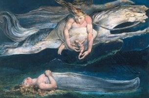 Obra Lástima de William Blake para representar la psicología arquetipal