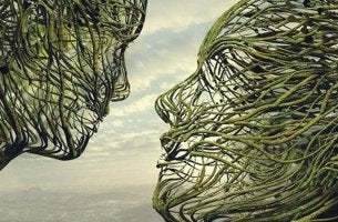 pareja mirándose simbolizando el cerebro empático