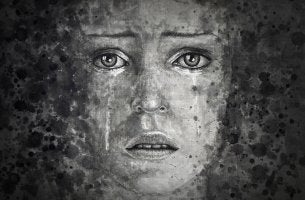 Rostro de una mujer triste para representar a los esclavos de día