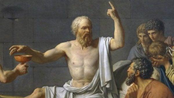 Sócrates con sus alumnos