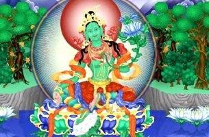 diosa simbolizando el mantra de la tara verde