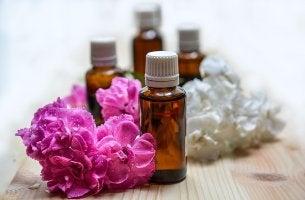 Aceite de flores para representar la aromacología