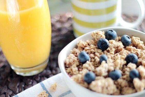 avena para mejorar el ánimo y energía a través del desayuno