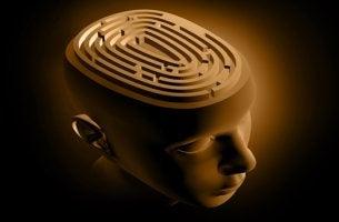 cabeza con laberinto sufriendo los efectos del quimiocerebro