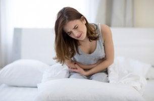 Chica con dolor por hipermenorrea