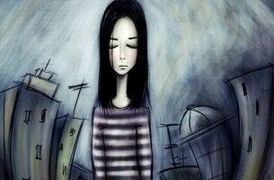 Chica triste representando la relación entre autoestima y depresión