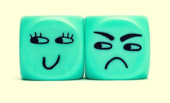 cuadrado enfadado por que el el otro sea feliz