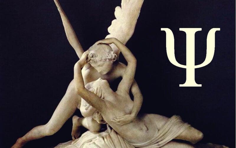 Eros y Psique representando el símbolo de psicología
