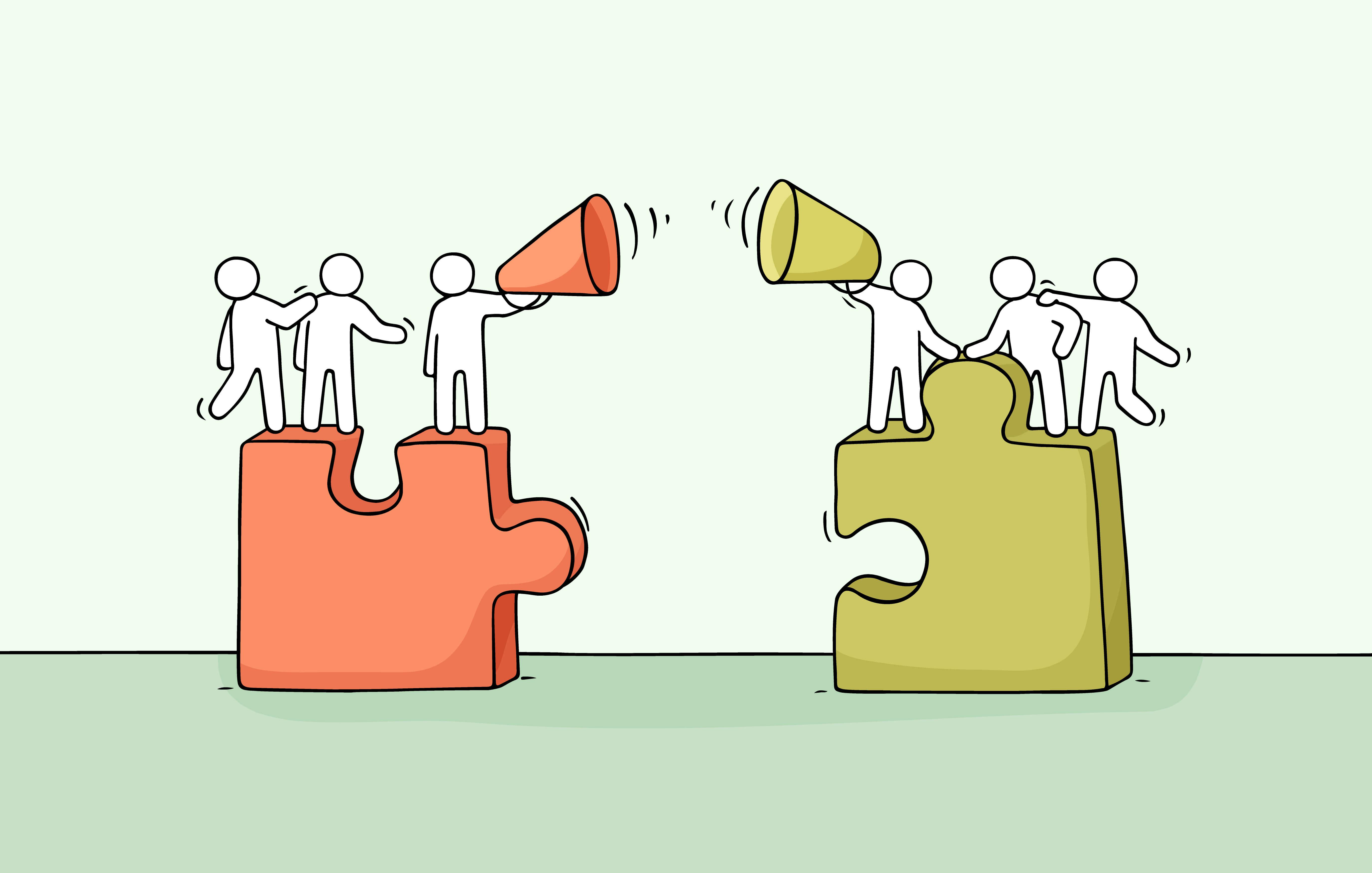 Due gruppi di persone per rappresentare il bias endogruppo