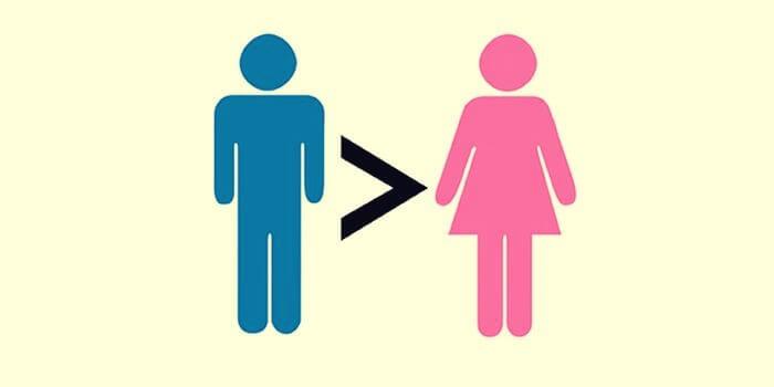 imagen representando a los hombres y mujeres machistas