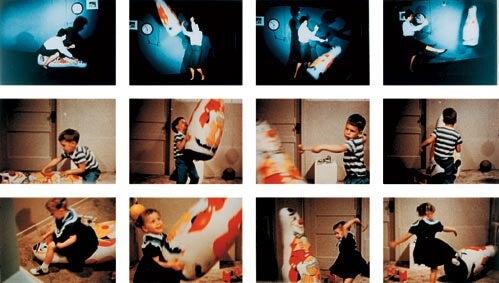 Imágenes del experimento del muñeco Bobo
