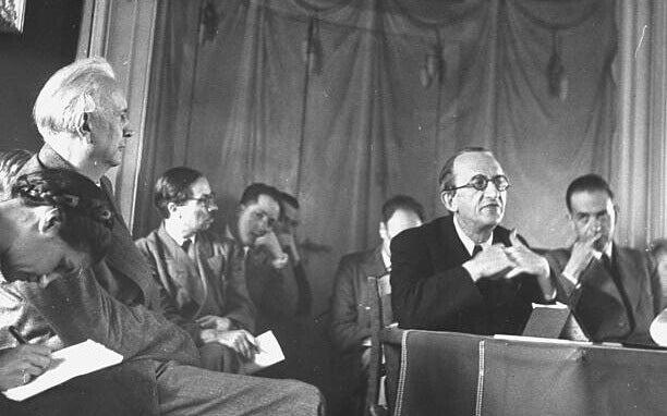 Karl Jaspers en una reunión