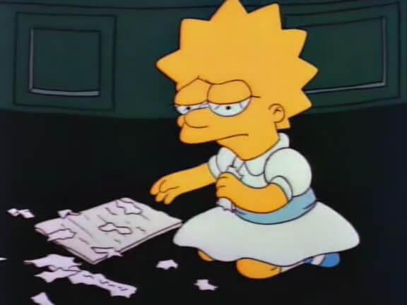 Lisa simpson triste