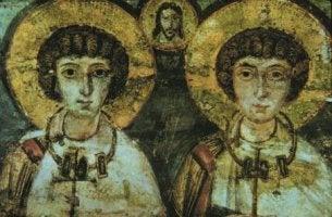 Pintura de dos santos