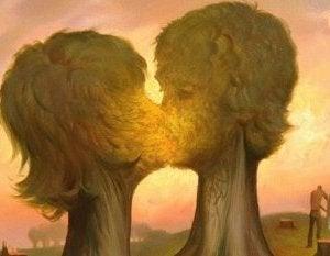 Árboles con forma de pareja
