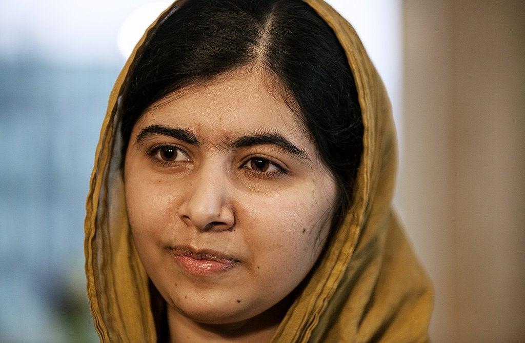 Cara de Malala Yousafzai